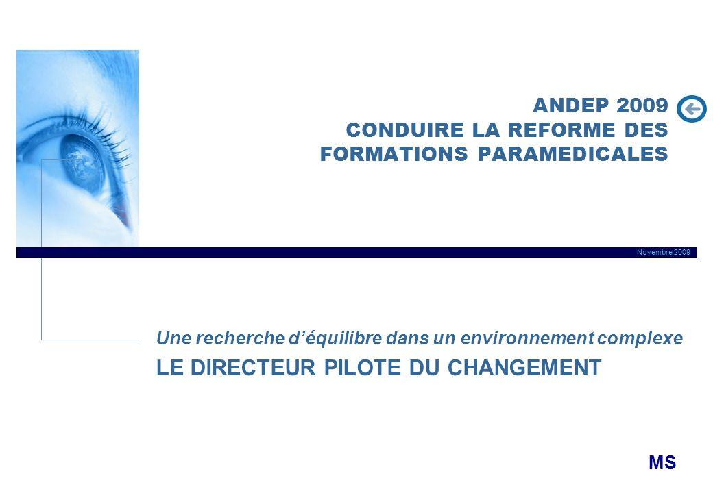ANDEP 2009 CONDUIRE LA REFORME DES FORMATIONS PARAMEDICALES