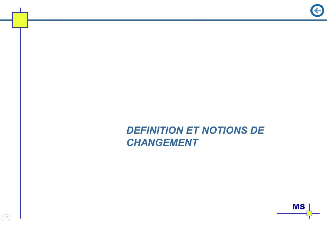 DEFINITION ET NOTIONS DE CHANGEMENT
