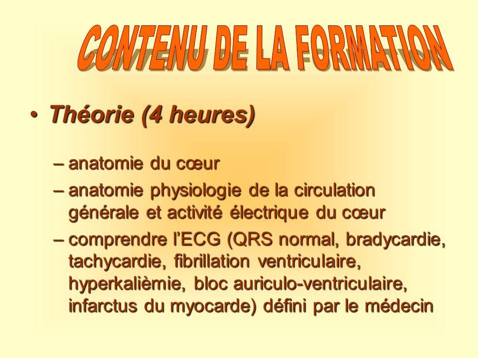 CONTENU DE LA FORMATION