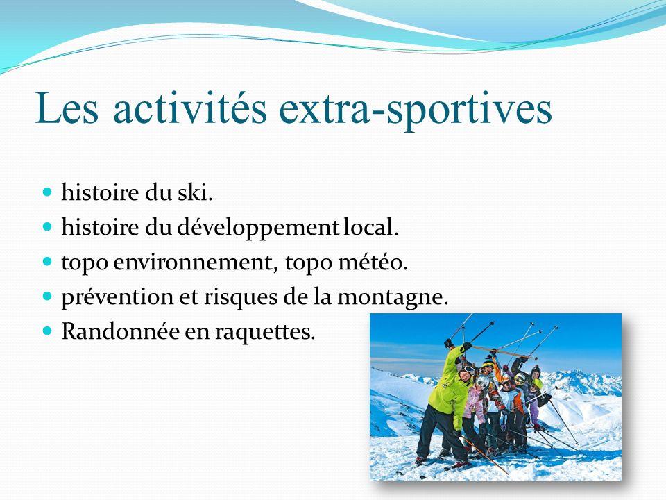 Les activités extra-sportives