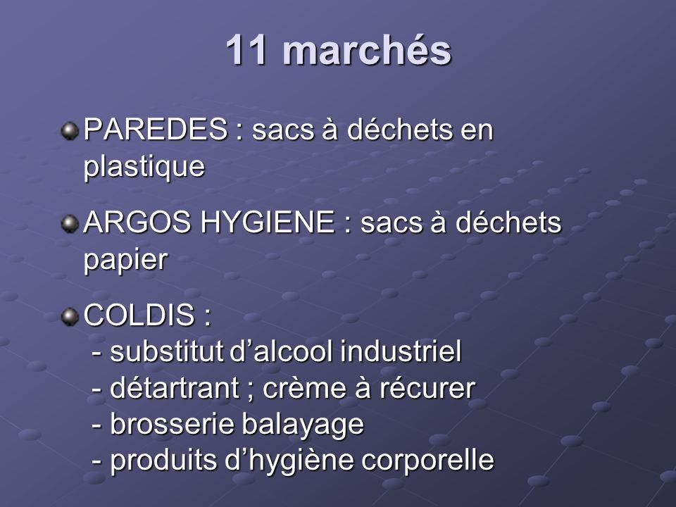 11 marchés PAREDES : sacs à déchets en plastique