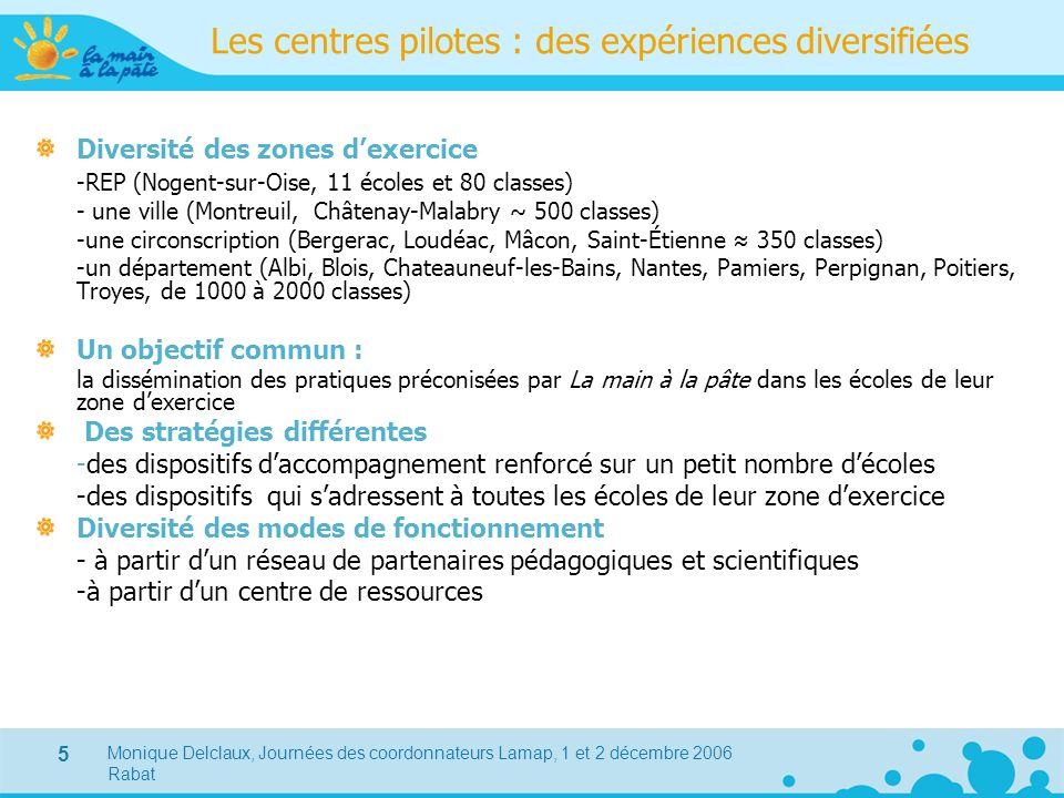 Les centres pilotes : des expériences diversifiées