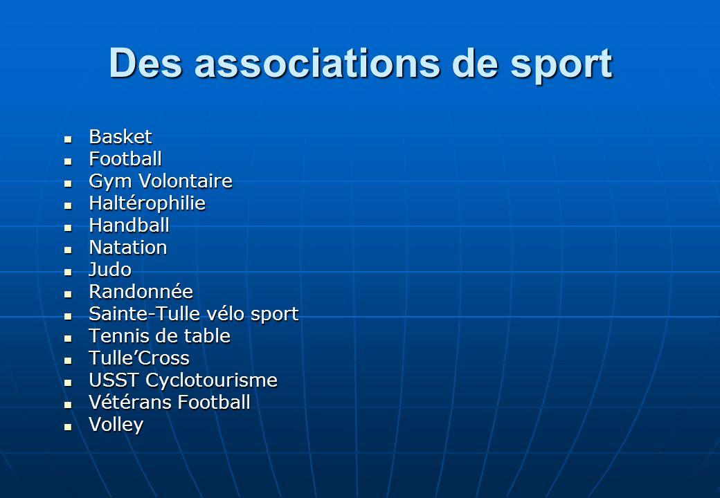 Des associations de sport