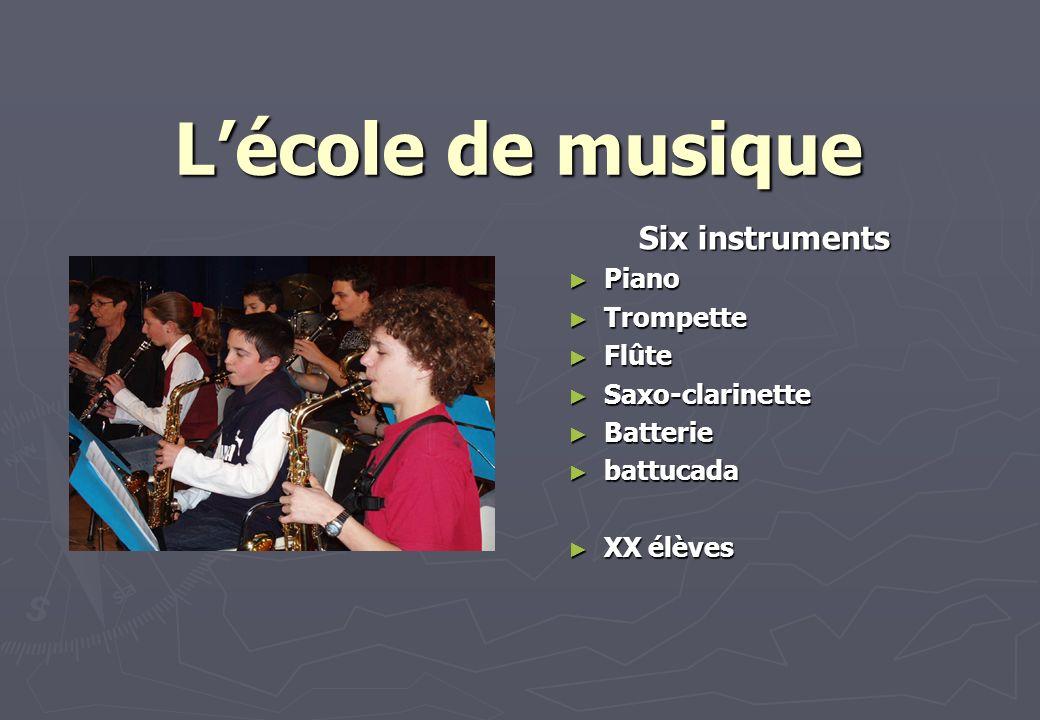 L'école de musique Six instruments Piano Trompette Flûte