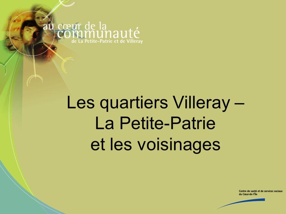 Les quartiers Villeray – La Petite-Patrie et les voisinages