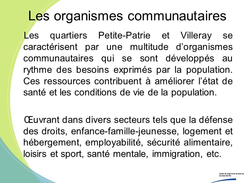 Les organismes communautaires