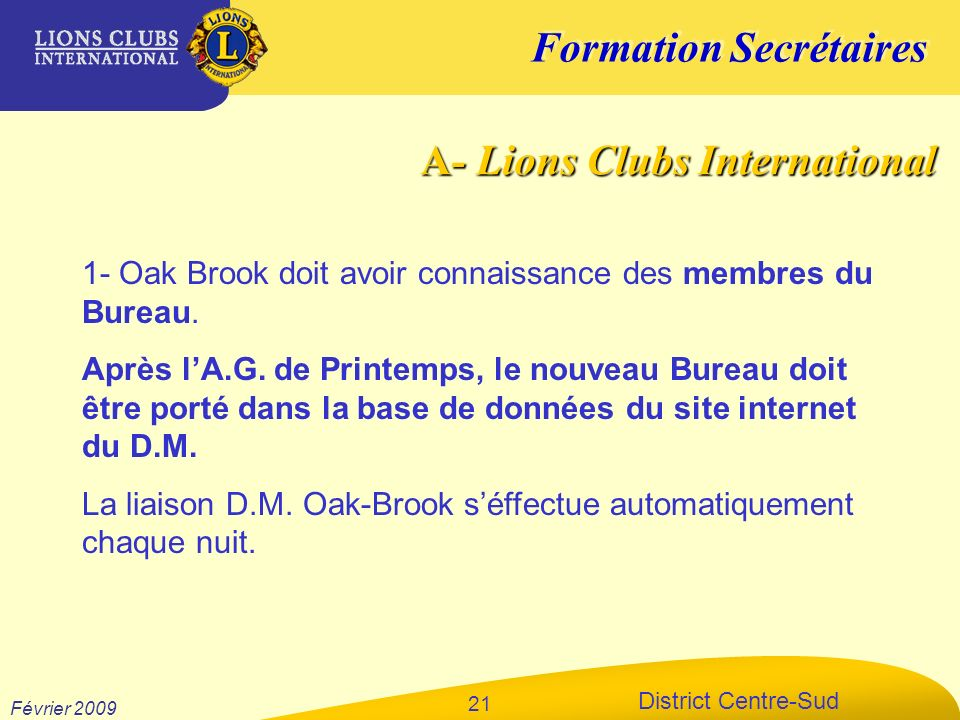A- Lions Clubs International
