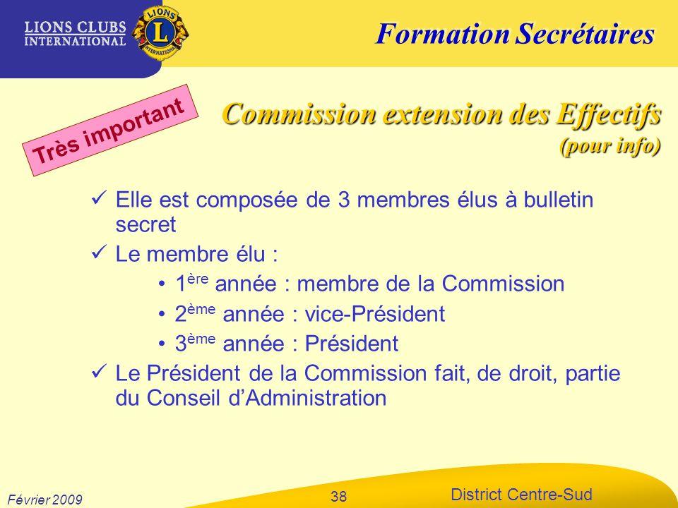 Commission extension des Effectifs (pour info)