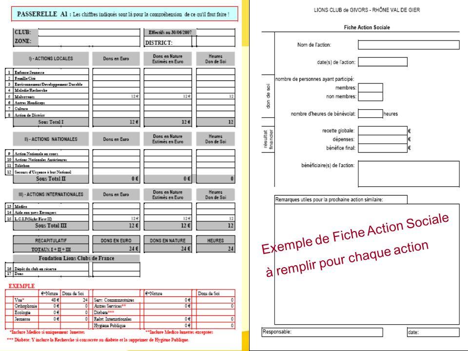 Exemple de Fiche Action Sociale à remplir pour chaque action