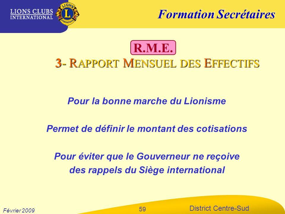 3- RAPPORT MENSUEL DES EFFECTIFS R.M.E.