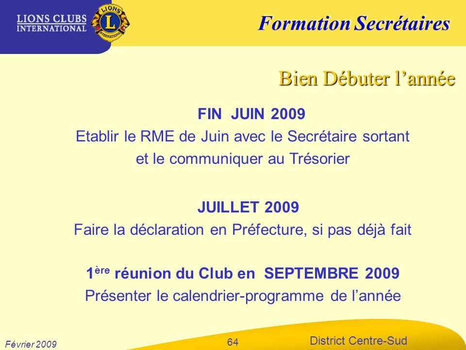 1ère réunion du Club en SEPTEMBRE 2009