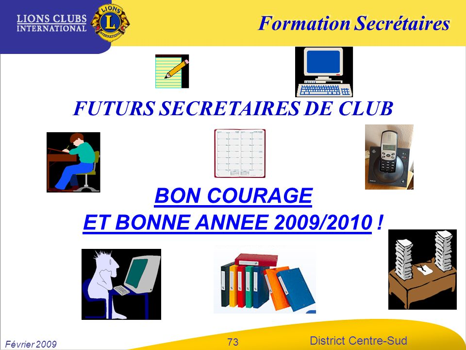 FUTURS SECRETAIRES DE CLUB