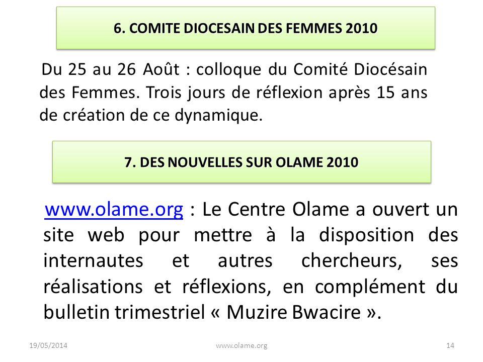 6. COMITE DIOCESAIN DES FEMMES 2010