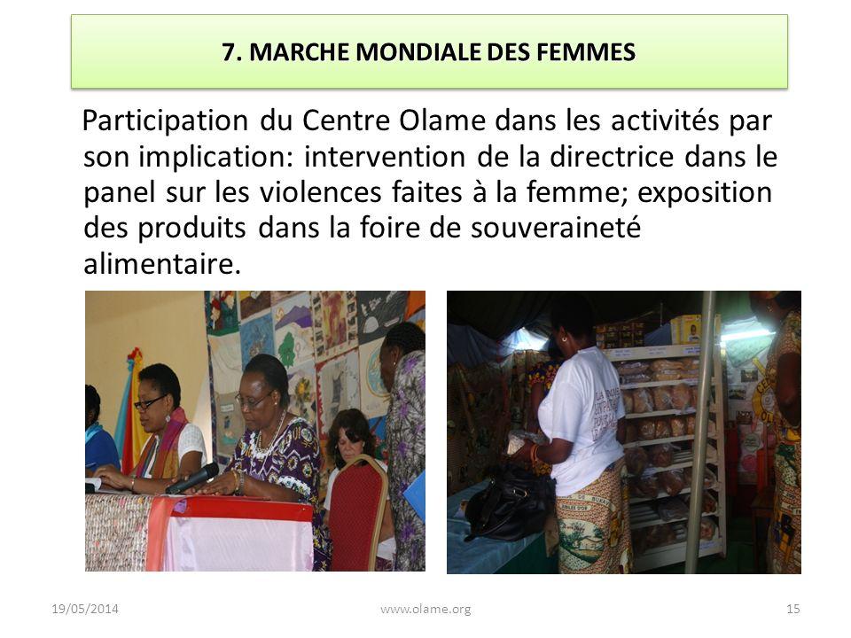 7. MARCHE MONDIALE DES FEMMES