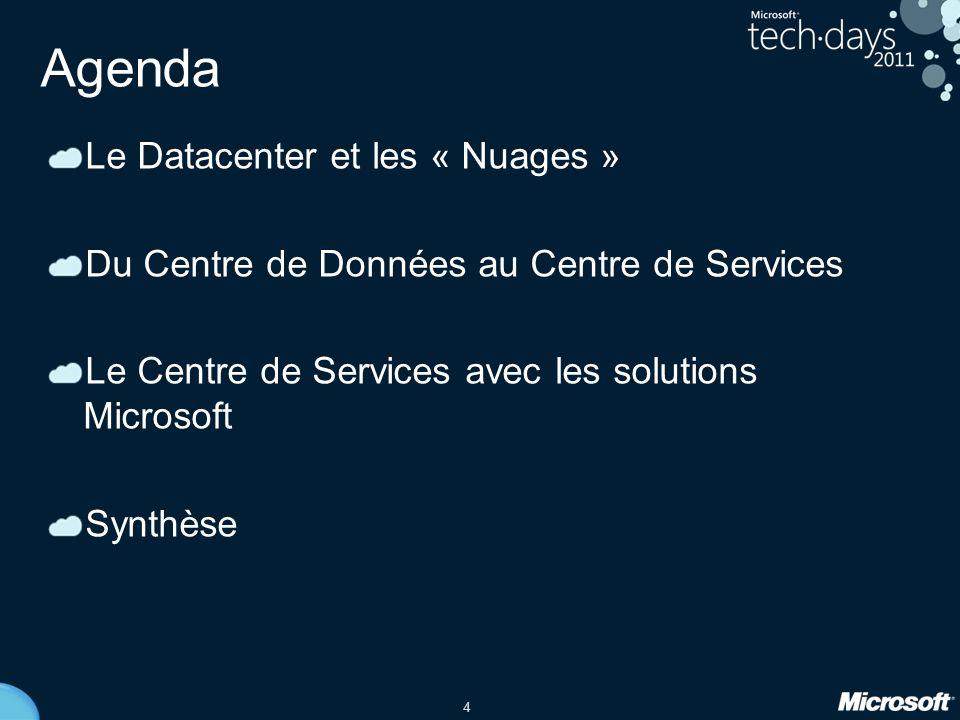Agenda Le Datacenter et les « Nuages »