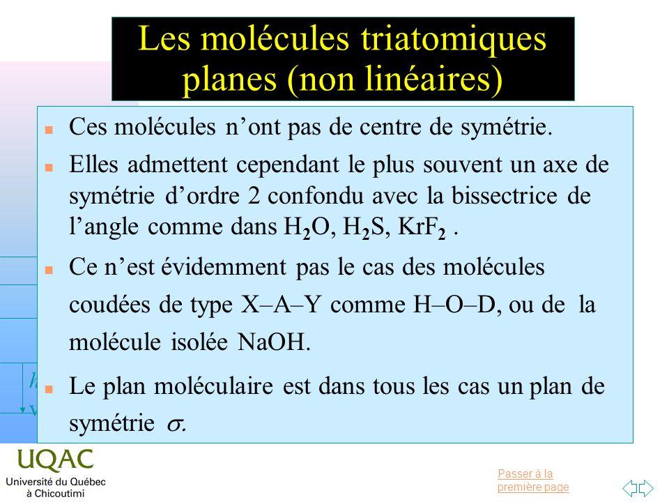 Les molécules triatomiques planes (non linéaires)