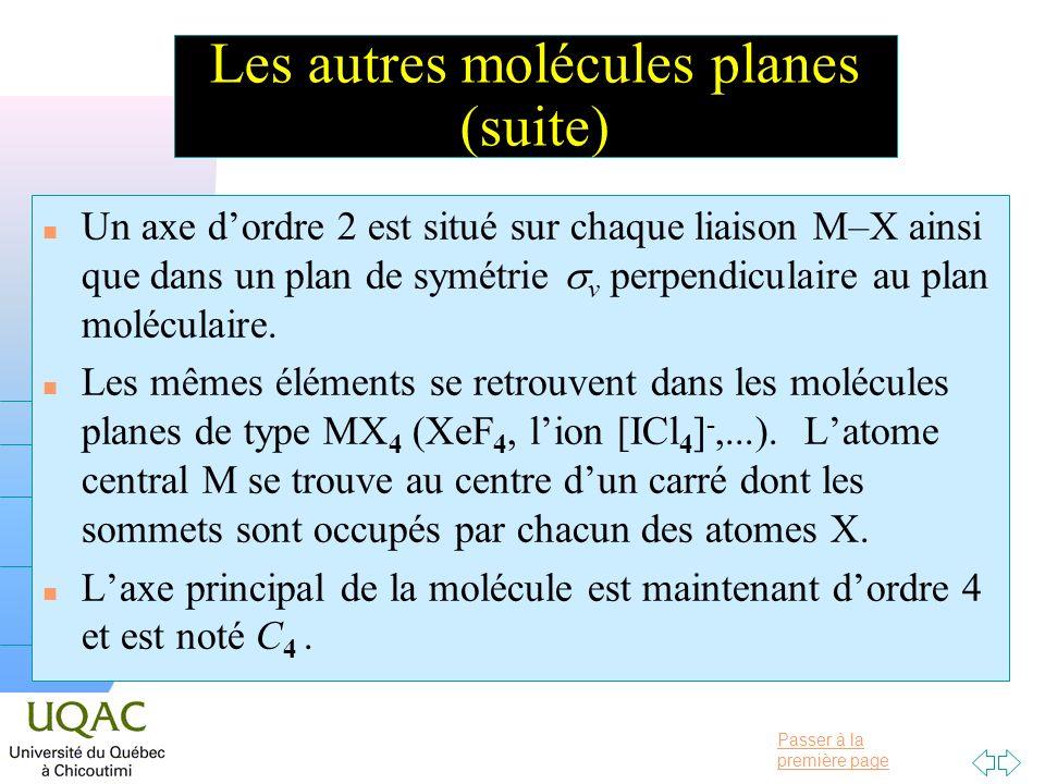 Les autres molécules planes (suite)