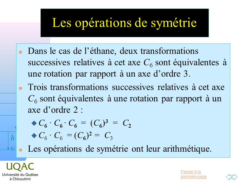 Les opérations de symétrie