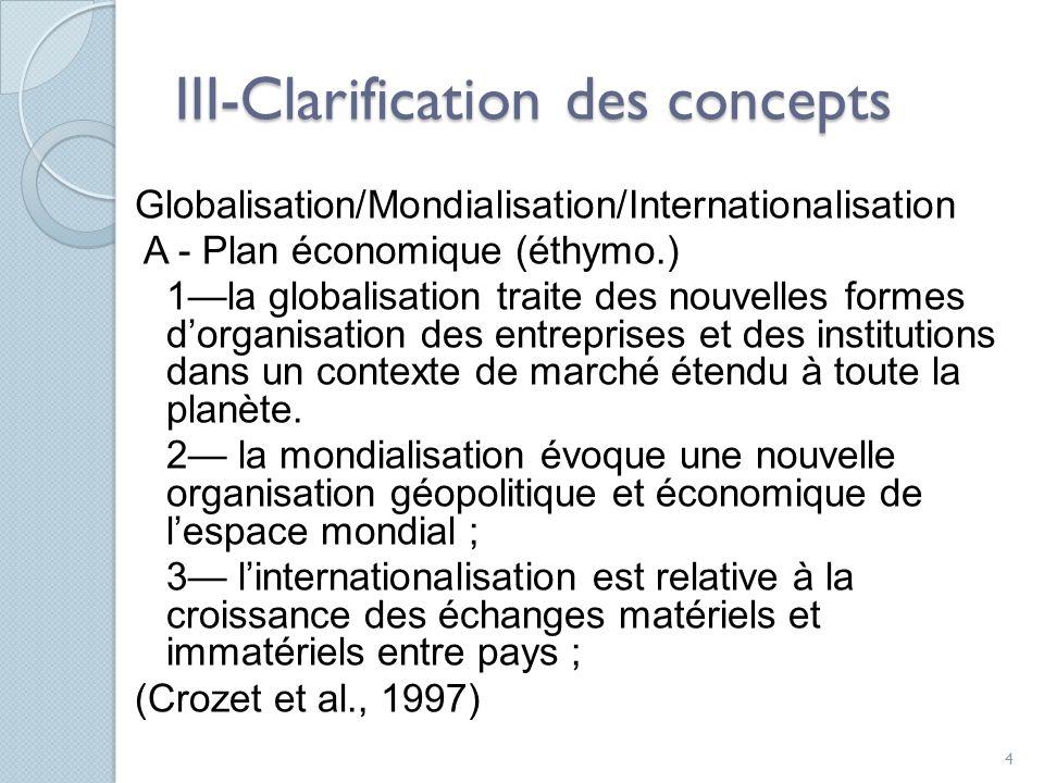 III-Clarification des concepts