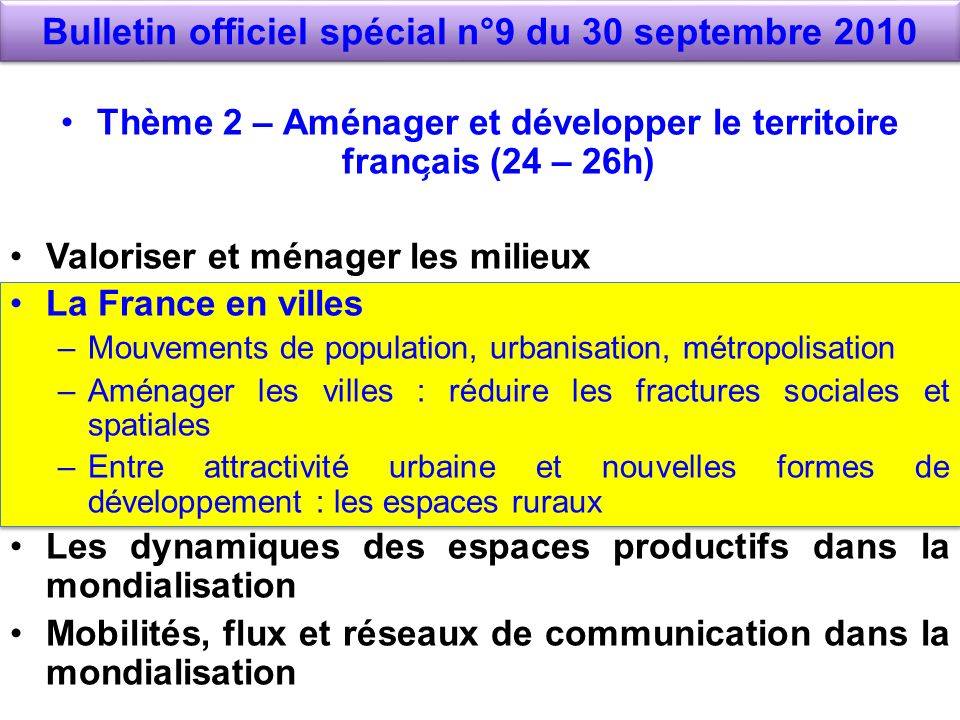 Bulletin officiel spécial n°9 du 30 septembre 2010