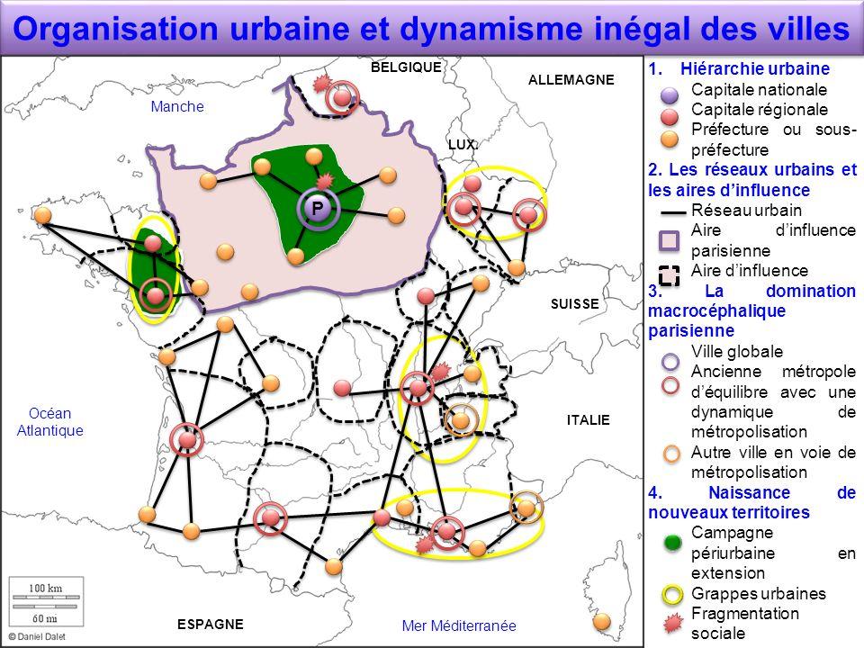 Organisation urbaine et dynamisme inégal des villes
