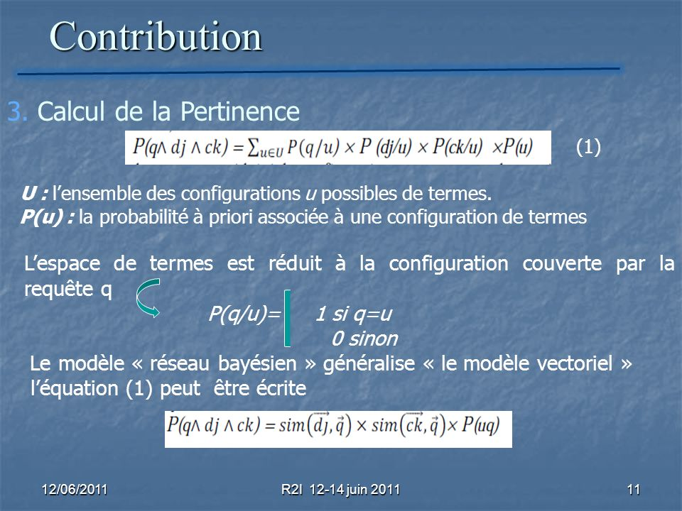 Contribution 3. Calcul de la Pertinence