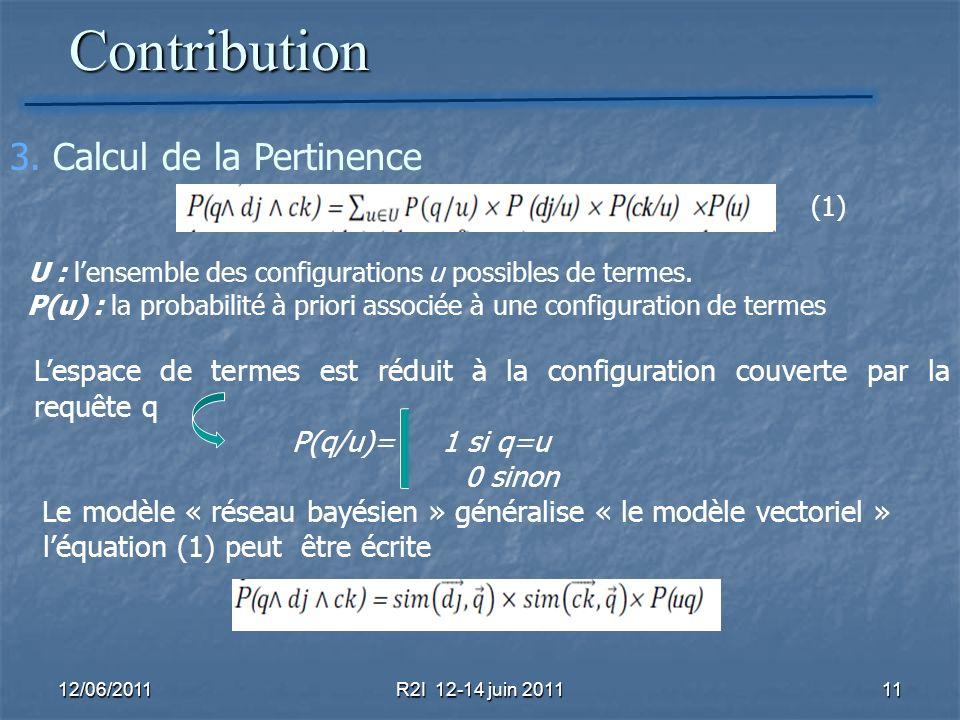 Contribution 3. Calcul de la Pertinence