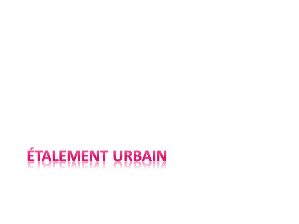 Étalement urbain