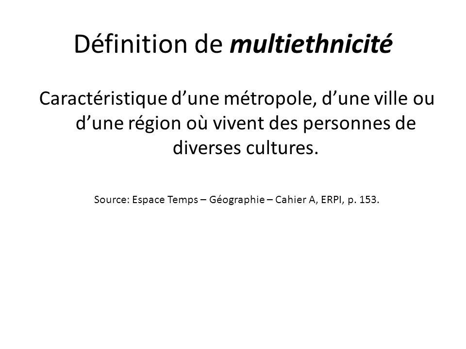Définition de multiethnicité