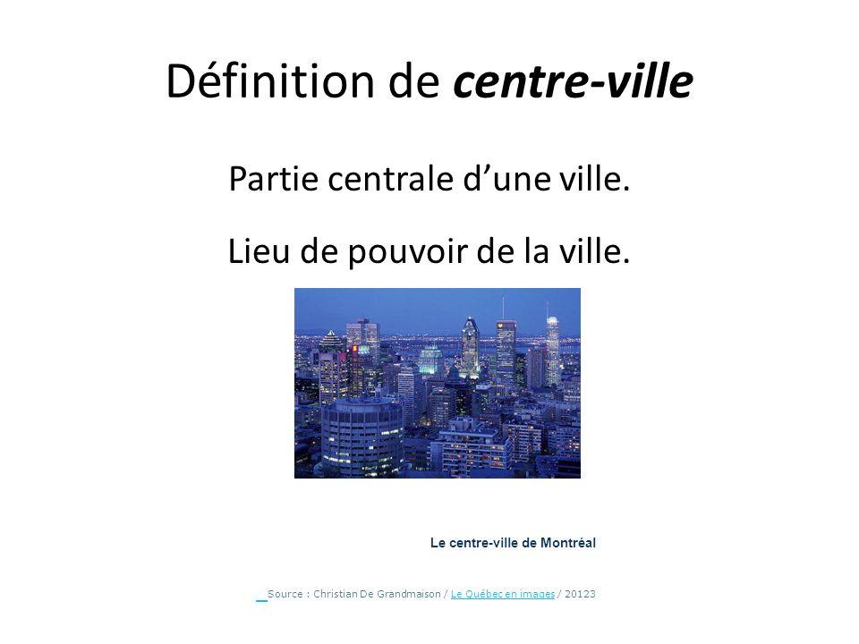 Définition de centre-ville