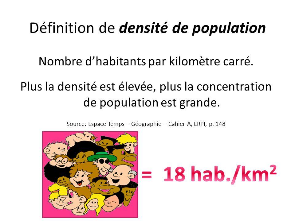 Définition de densité de population