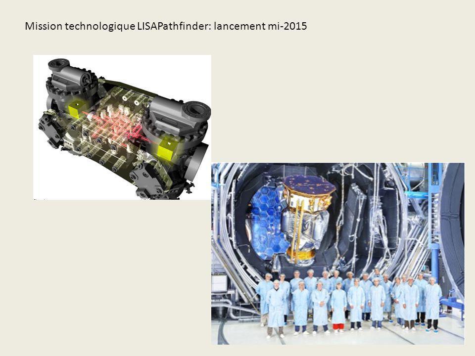 Mission technologique LISAPathfinder: lancement mi-2015