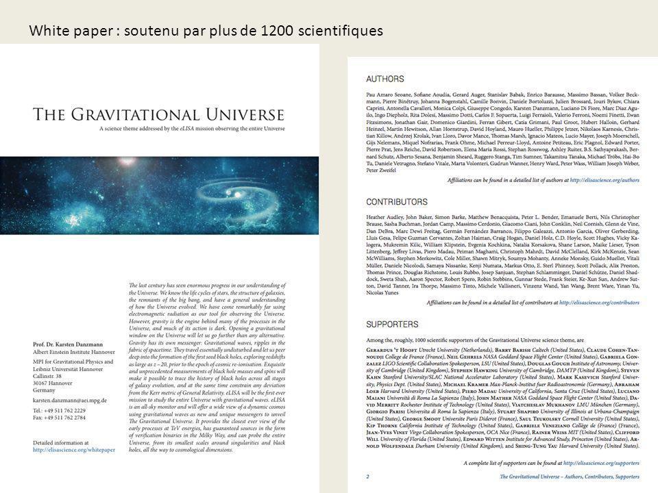 White paper : soutenu par plus de 1200 scientifiques