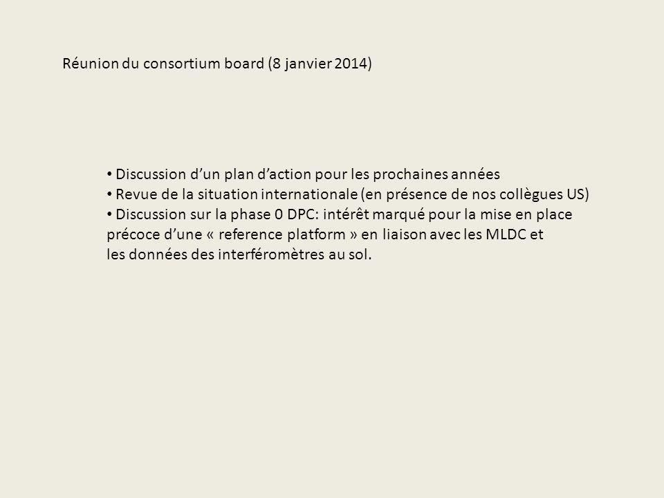 Réunion du consortium board (8 janvier 2014)