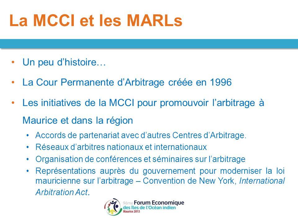 La MCCI et les MARLs Un peu d'histoire…