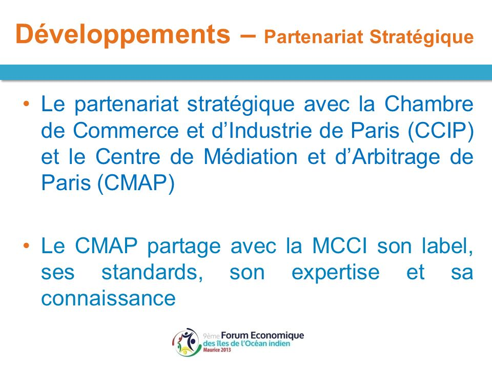 Pr sentation sur le mcci arbitration and mediation center for Chambre de commerce de paris arbitrage