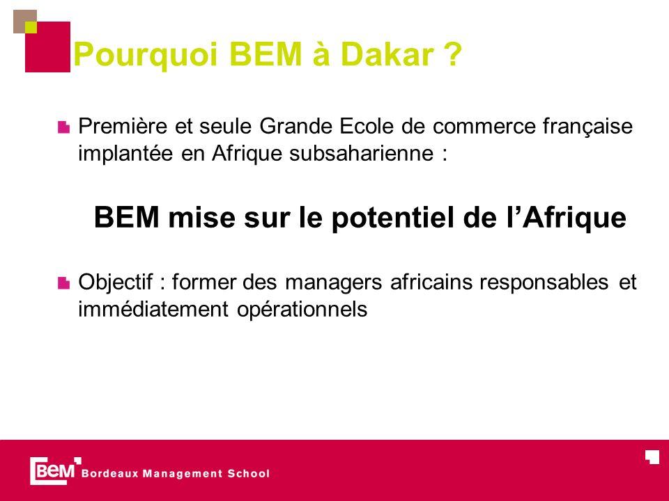 BEM mise sur le potentiel de l'Afrique