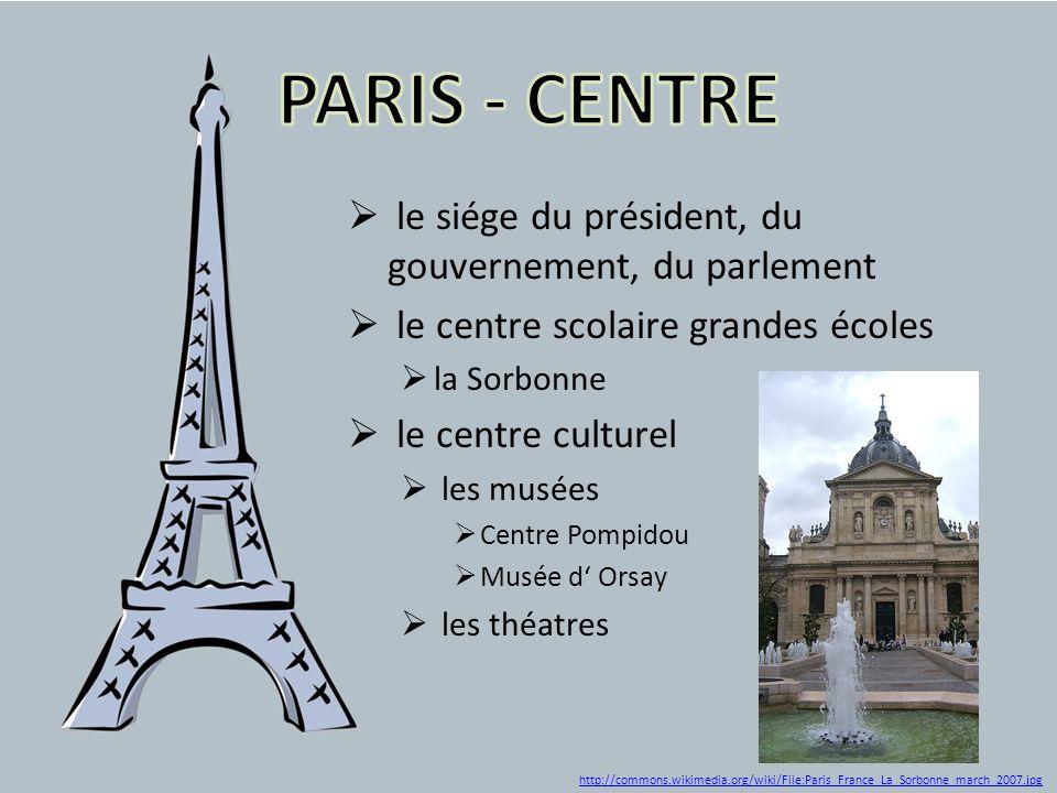 PARIS - CENTRE le siége du président, du gouvernement, du parlement