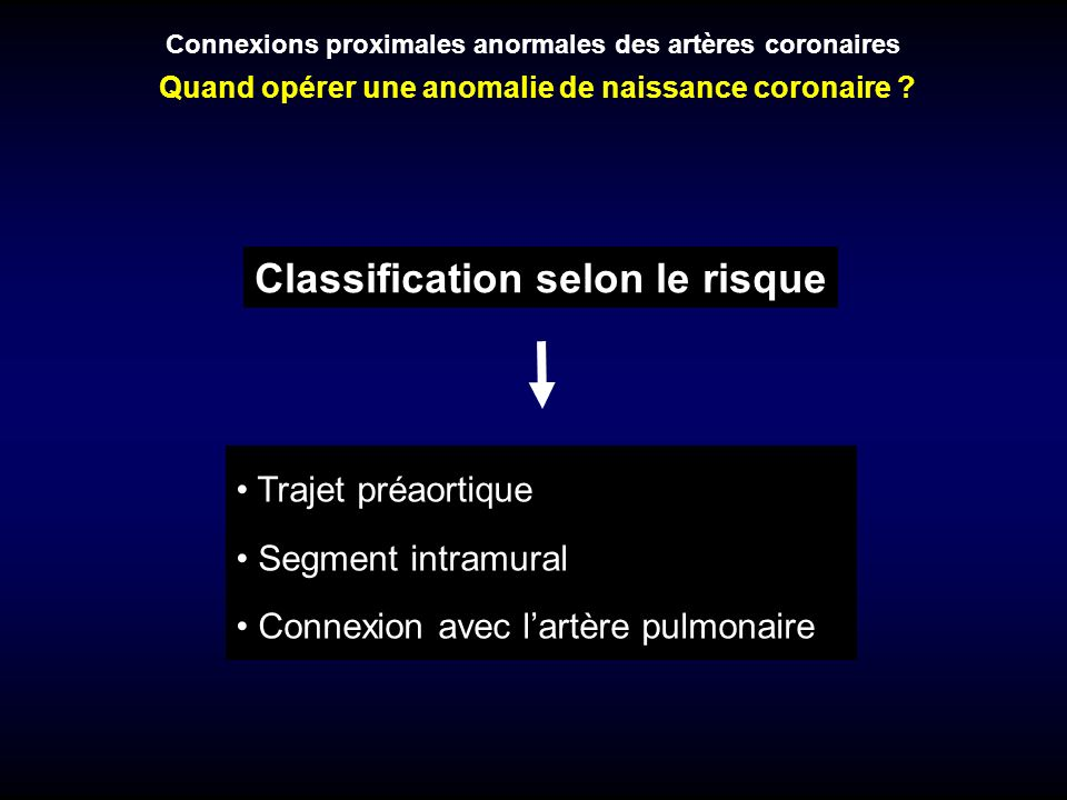 Classification selon le risque
