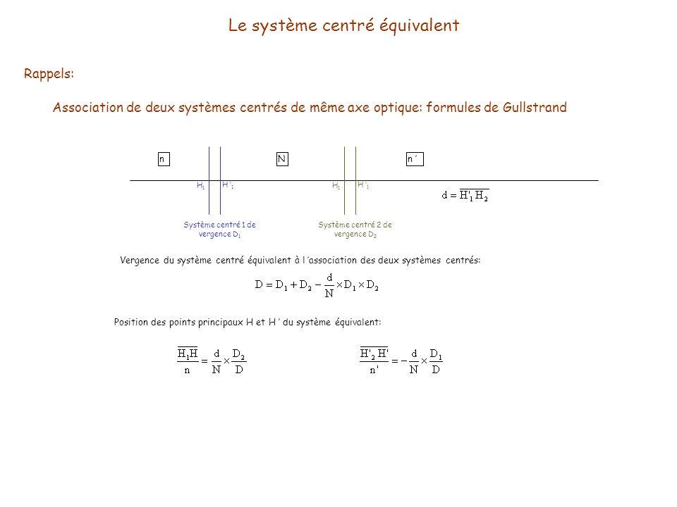 Le système centré équivalent