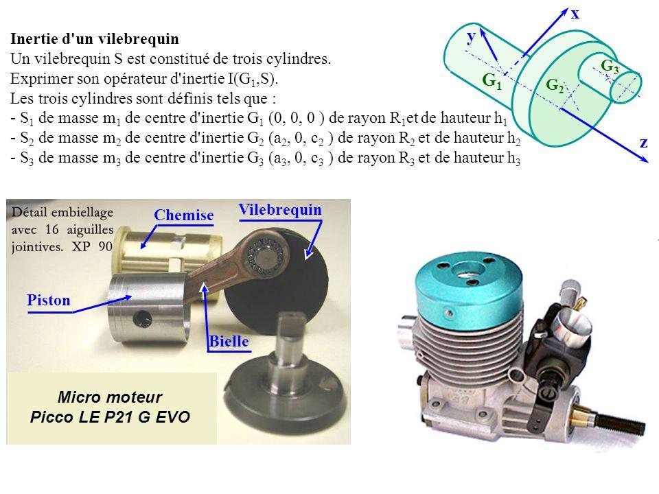 x y G1 z Inertie d un vilebrequin