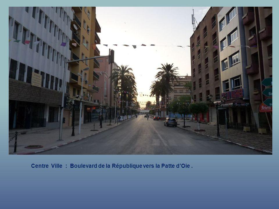 Centre Ville : Boulevard de la République vers la Patte d'Oie .
