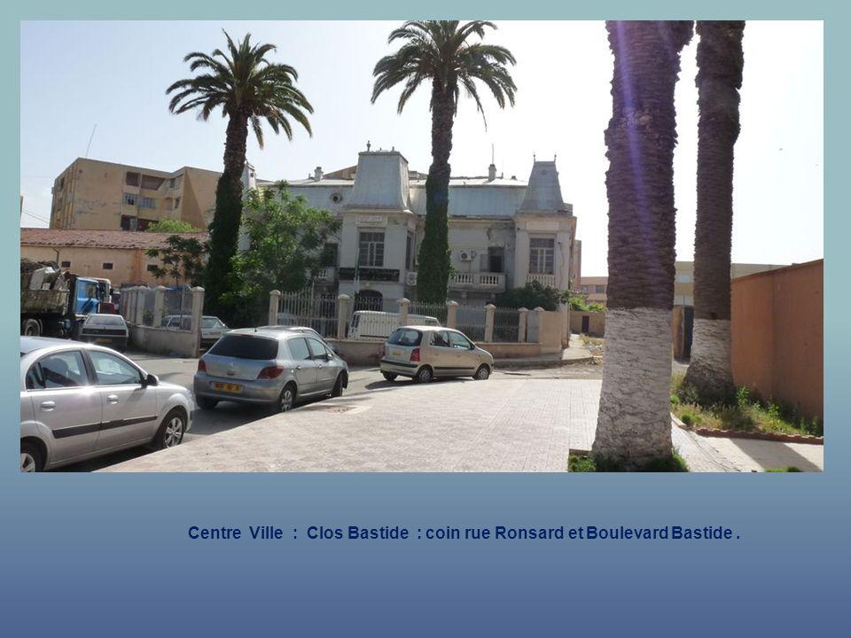 Centre Ville : Clos Bastide : coin rue Ronsard et Boulevard Bastide .