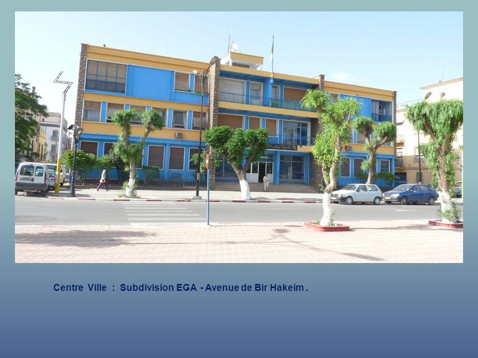 Centre Ville : Subdivision EGA - Avenue de Bir Hakeim .