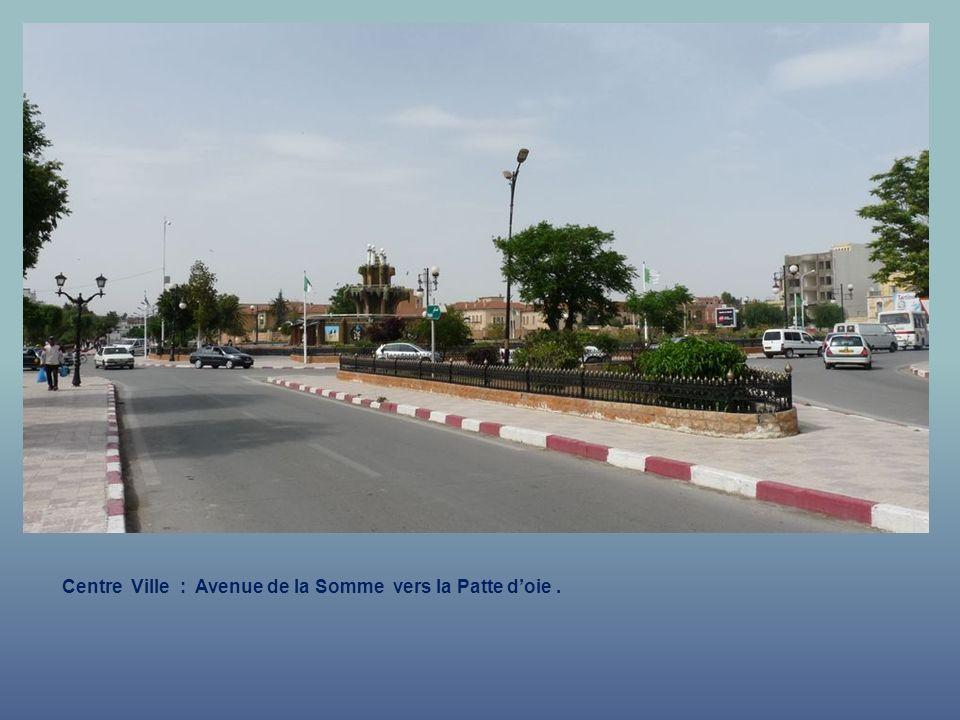 Centre Ville : Avenue de la Somme vers la Patte d'oie .