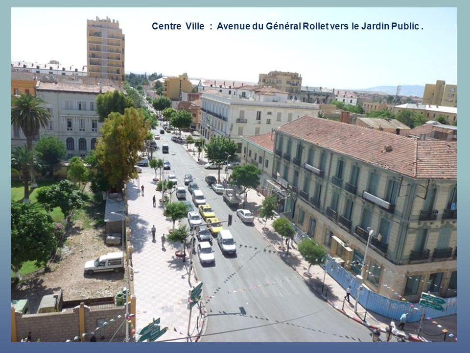 Centre Ville : Avenue du Général Rollet vers le Jardin Public .