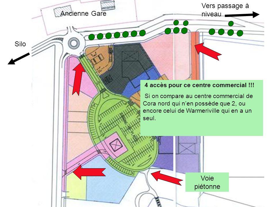 Vers passage à niveau Ancienne Gare Silo Voie piétonne