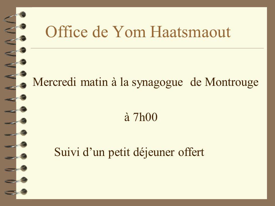 Office de Yom Haatsmaout