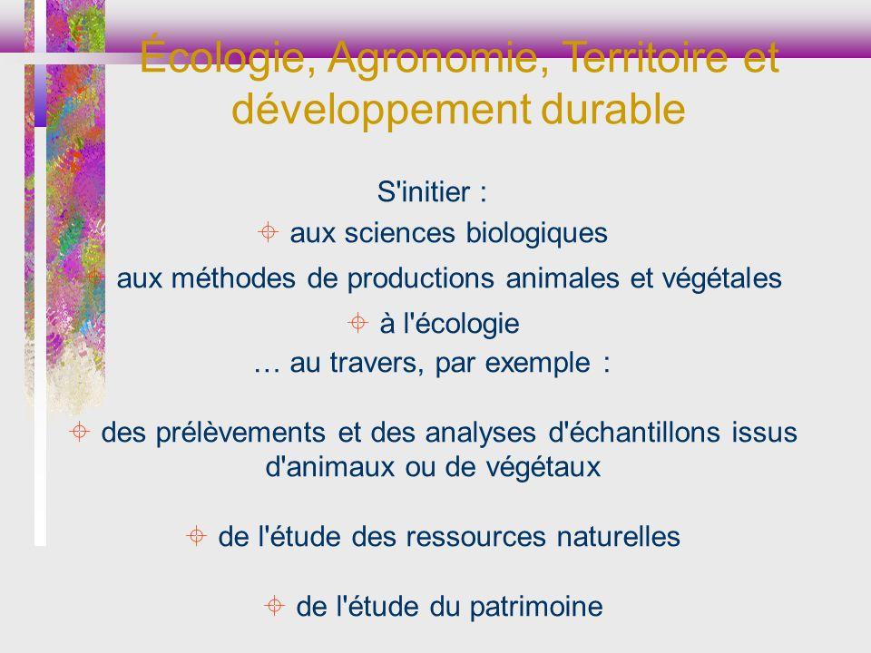 Écologie, Agronomie, Territoire et développement durable