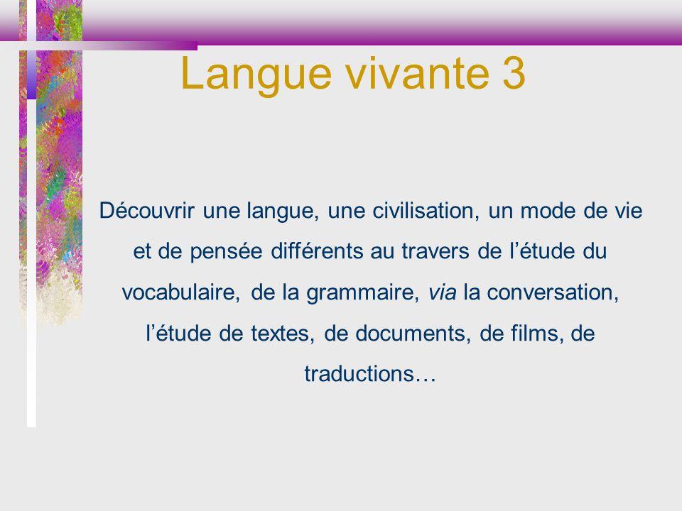 Langue vivante 3